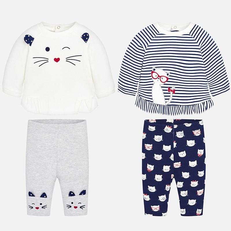 Mayoral Σετ μακό 4 τεμάχια για μωρό κορίτσι ναυτικό 2626 - bambinobaby 42c2f338ea5