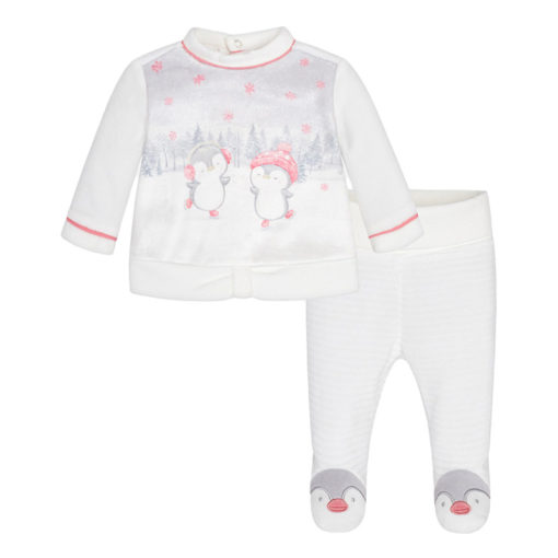 447fbfb9b39 Mayoral Σετ φόρμα κλειστό πέλμα πιγκουίνος για μωρό κορίτσι 2514 -  bambinobaby