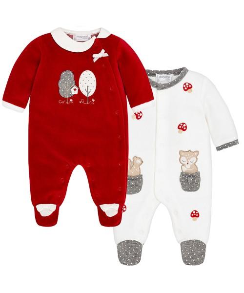 ea304c5dda7 Mayoral Σετ 2 φορμάκια βελουτέ για μωρό κορίτσι 2748 - bambinobaby