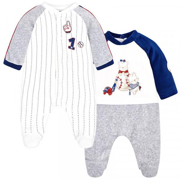 0e6c9ad2ce3 Mayoral Σετ 2 φορμάκια βελουτέ για μωρό αγόρι 2746 - bambinobaby